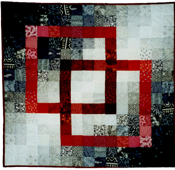 Bettyquilts Com Black White Red Interlock Wall Hanging